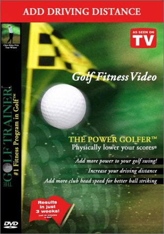 The Power Golfer by The Golf Trainer #1 Fitness Program in Golf! Add Driving Distance and Increase Clubhead Speed! -