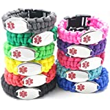Chic Alert Medical Id Paracord Medical Id Bracelet - Engraving Included!!