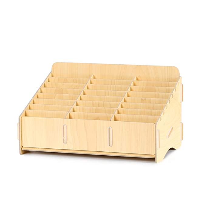 Home Storage Solutions Wooden Desk Storage Box Multi-functional Cell Phone Repair Accessories Tools Box Home Storage Boxes