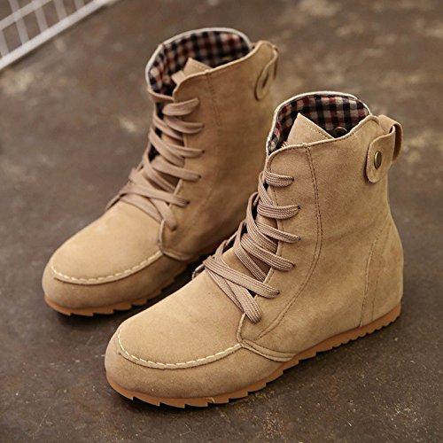 Corta primavera de fondo plano botas de terciopelo, Martin's Boots en otoño. Thirty-nine
