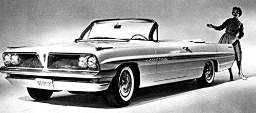 1961 Pontiac Bonneville Convertible Factory Photo