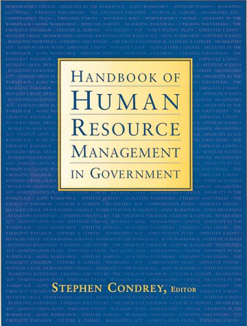 Handbook of Human Resource Management in Government (Jossey-Bass Nonprofit and Public Management Series)