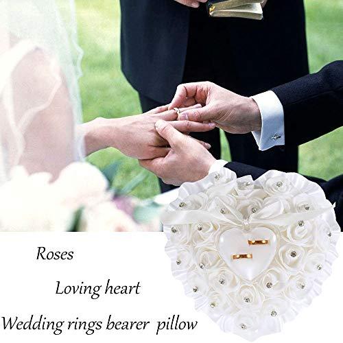 Pillow wedding ring holder