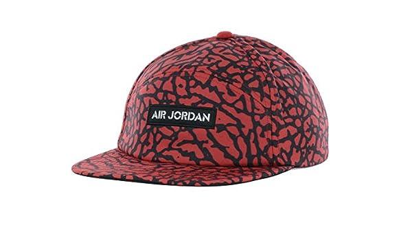 ad7017a3a522 ... half off 11f8b 15fc9 Jordan Legacy Buckle Strapback Snap Red Black Cap  Hat ...