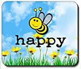 Art Plates Brand Mouse Pad - Bee Happy