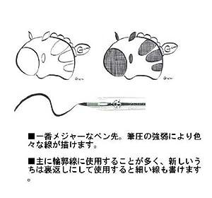 Pluma Fuente Zebra Comic G Model Chrome, paquete de 10