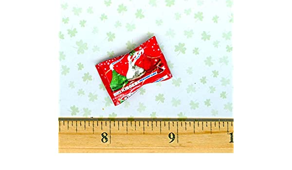 DOLLHOUSE MINIATURE  Size Christmas Chocolate Kisses Candy BAG