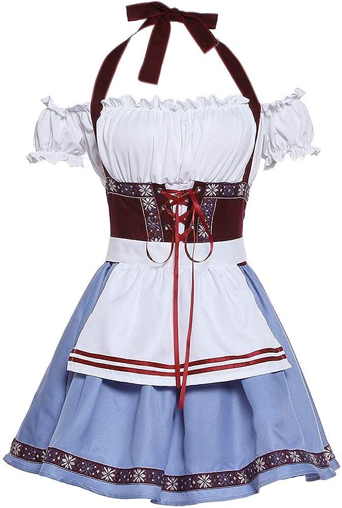 ROLECOS Womens Oktoberfest Costume Fraulein Bavarian Dirndl Dress Beer Girl German Bavarian Dress