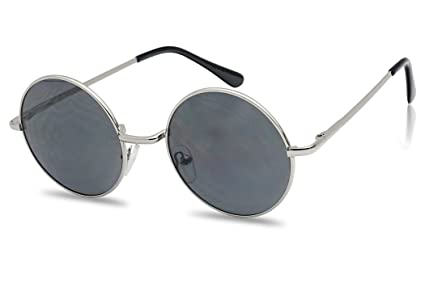 3348824de4 Amazon.com  John Black 60 S Hippie Sunglasses Smoke Hippy Glasses ...