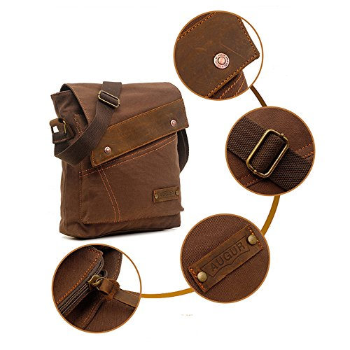 Satchel School Crossbody Coffee Men's Daypack Canvas For Shoulder Messenger Work Yuhan Vintage Use Daily Bag Casual wR7zx0qSgq