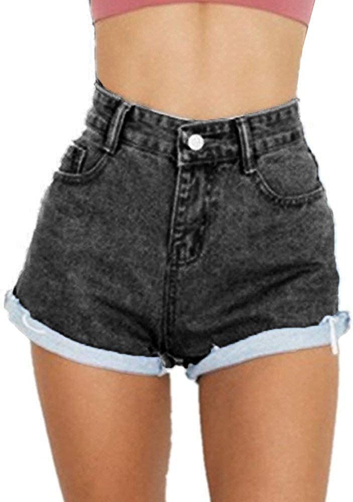 YYear Womens Retro Solid Color Pockets Strappy Classic Denim Shortalls Overall Shorts