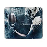 Are There Different Size King Beds ALAZA American Us Football Ball Plush Throws Siesta Camping Travel Fleece Blankets Lightweight Bed Sofe Size 50x60inches