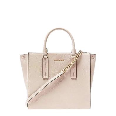 détaillant en ligne ef5ec f7d18 Michael Kors Alessa grand sac en cuir rose doux cartable ...