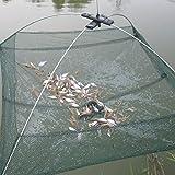 KINGSO Nylon Folding Fish Netting Fishing Net Baits Crab Lobster Shrimp Crawfish Trap Cast Dip Net 23.6x23.6 Inch