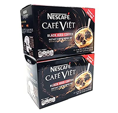 Nescafe Cafe Viet Black Iced Coffee Instant Coffee 15 Packets X 2 Packs from Nescafe