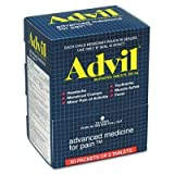 Advil Pain Reliever Tablets, Single Packets, 2/PK, 50/BX, Sold as 1 Box