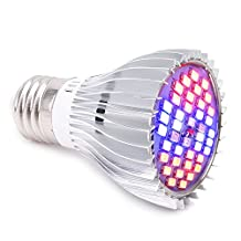 LONGKO 30W LED Grow Light Bulb Full Spectrum E27 Plant Growing Lamp for Indoor Garden Greenhouse Hydroponics