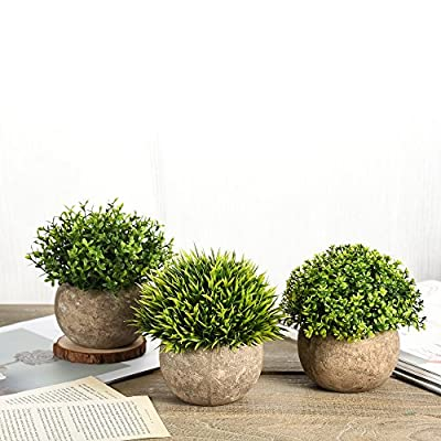 Shuheng Artificial Plant Potted Green Grass for Home Office Outdoor Decor Mini Plastic Fake Lifelike Artificial Flowers