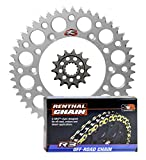Renthal Ultralight Front & Rear Sprockets & R3 O-Ring Chain Kit - 13/52 SILVER - Kawasaki KLX450R & KX450F