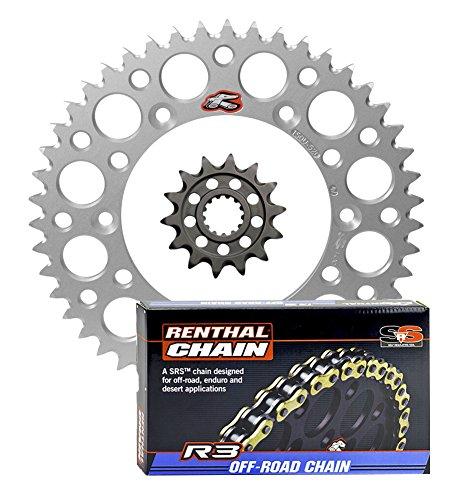 Renthal Ultralight Front & Rear Sprockets & R3 O-Ring Chain Kit - 13/52 SILVER - Kawasaki KLX450R & KX450F by Seismic Cycles
