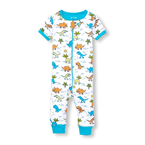Doodle Garment (The Children's Place Baby Boys Short Sleeve One-Piece Pajamas, White 9, 4T)