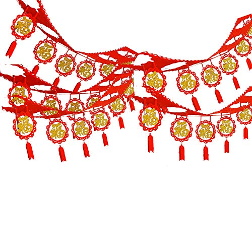 40 inch Hanging Garland Decor Spring Festival Set Chinese New Year Decorations FeltFabric (Hang Decor)