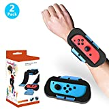 STARONE 2 Pack Wrist Bands Compatible with Nintendo Switch Joy-Cons Controller, Adjustable Elastic Strap for Joy-Cons Controller, Two Size for Adults and Children Dance Comfortable Wristband