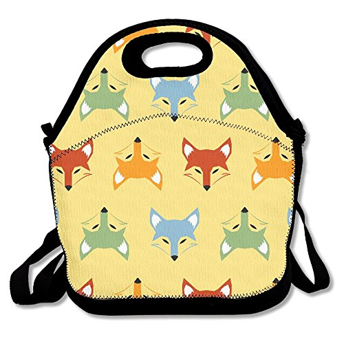 Yenba Fox Animal Insulated Lunch Bags For Women Lunch Boxes Adults Lunch Tote Fox Womens Body Rock