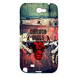 Chicago Bulls Dust-proof Hard Plastic Case Skin For Samsung Galaxy Note 2 n7100