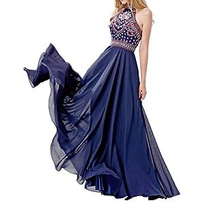 LOVIERA Women's Dress Prom Dress Evening Gowns Bridesmaid Dress Neck Open Back