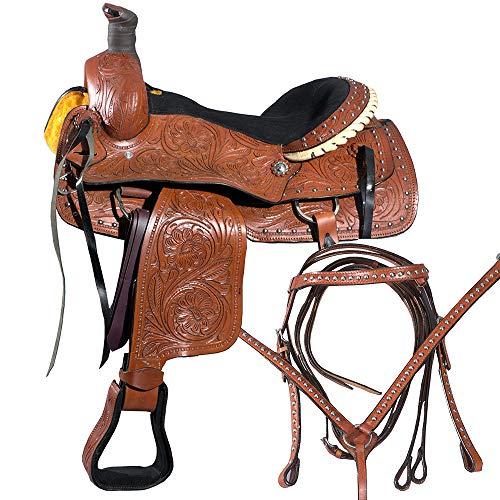 Great American 17 Horse Western Roper TrailPleasureSaddle Leather