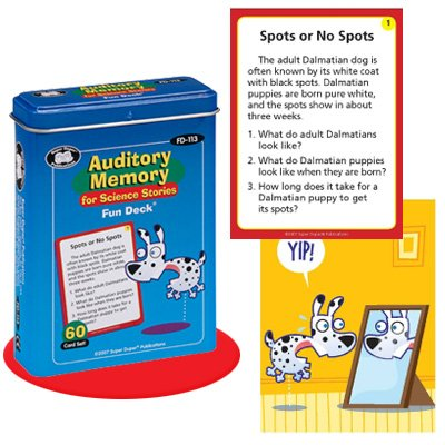 Auditory Memory for Science Stories Fun Deck Cards - Super Duper Educational Learning Toy for Kids