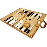 18-inch Luxurious Map Backgammon Set - Brown Board