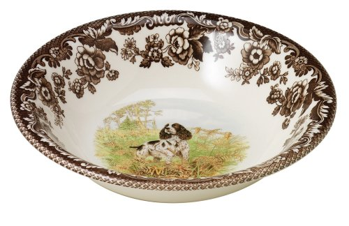 Springer Spaniel Gifts - Spode Woodland Hunting Dogs English Springer Spaniel Cereal Bowl, 20cm
