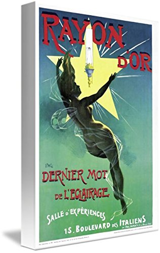 (Imagekind Wall Art Print Entitled Poster Advertising 'Rayon D'or' Lighting by The Fine Art Masters | 7 x)