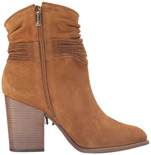 Jessica Simpson Vrouwen Sesley Pompen Rond Lederen Fashion Laarzen Bruin Canela