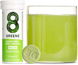product image for 8Greens Immunity and Energy Effervescent Tablets - Packed with 8 Powerful Super Greens (Melon, 3 Tubes/30 Tablets)