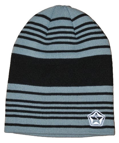 Sessions Men's Heather Stripe Beanie, Grey, One Size Fits All (Sessions Snowboard Outerwear)