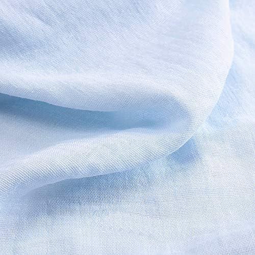 ZAIONE - Tela de doble gasa 100% algodón para bebé, muselina de ...