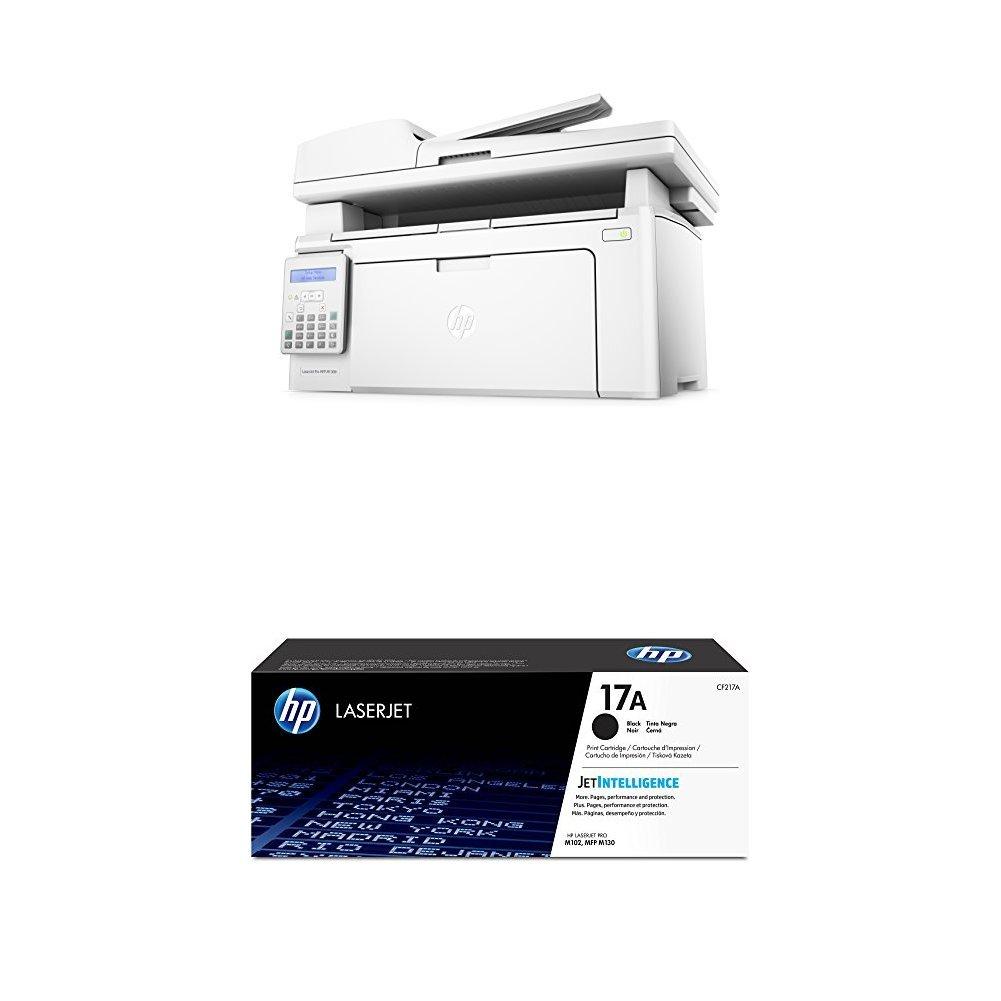 HP LaserJet Pro MFP M130fn + Hewlett Packard CF217A , toner color ...