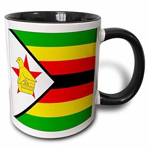 Zimbabwe Mug - 3dRose (mug_31612_4) Zimbabwe Flag - Two Tone Black Mug, 11oz
