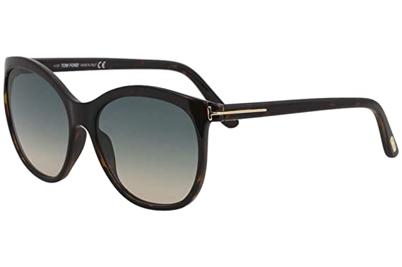 146a5d4cb4 Image Unavailable. Image not available for. Color  Sunglasses Tom Ford FT  0568 Geraldine- 02 52P dark havana   gradient green