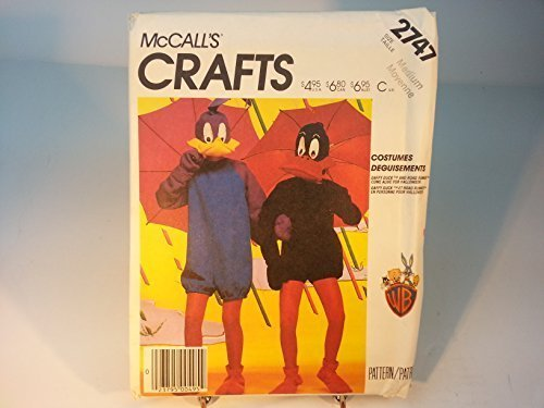 McCalls 2747 Child Daffy Duck Costume Sewing Pattern Size (Daffy Duck Girl Costume)