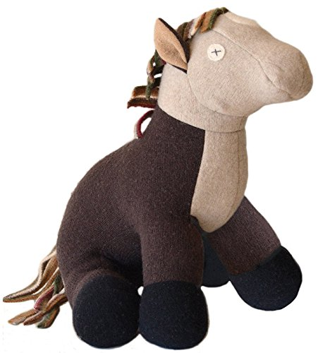 Cate and Levi 22 Handmade Horse Stuffed Animal (Premium Reclaimed Wool), Colors Will Vary