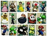 Super Mario Brothers 19 Piece Deluxe Random Holiday Christmas Tree Ornament Set Featuring Mario and Random Friends