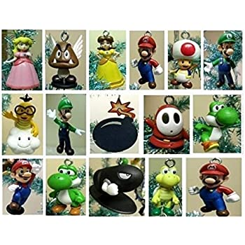 Super Mario Brothers 19 Piece Deluxe Random Holiday Christmas Tree Ornament  Set Featuring Mario and Random Friends - Amazon.com: Super Mario Brothers Christmas Ornaments Figurines Pack