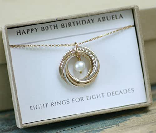 80th Wedding Anniversary Gift: Amazon.com: 80th Birthday Gift For Grandma, Pearl Necklace