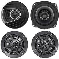 """(2) Polk Audio MM522 5.25"""" 600 Watt Car Audio Speakers+(2) Kicker 5.25 Speakers"""