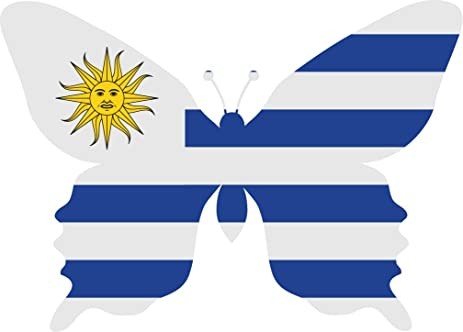 Uruguay flag butterfly home decal vinyl sticker 14