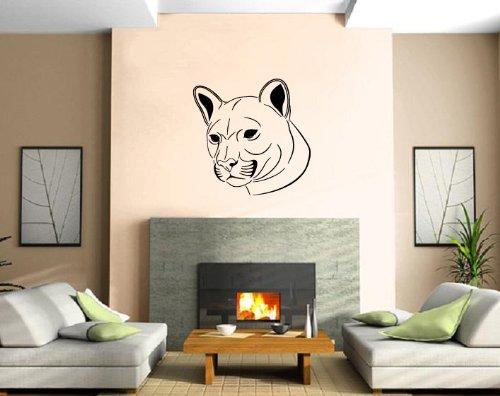 Puma Big Cat Furry Hunter Animal Decor Art Wall Mural Vinyl Decal Sticker M453